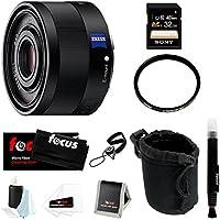 Sony Sonnar T* FE 35mm f/2.8 ZA Camera Lens w/ 32GB SD Card & 49mm Filter Bundle