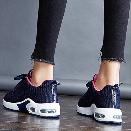 Casual Uomo da Basse Blu e Running 44 EU Traspirante Scarpe Leggero Interior Fitness Sneakers Air Sportive Corsa MIMIYAYA all'Aperto Ginnastica 34 Donna xIq5gSnwO