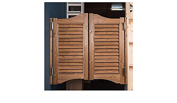AGWa Oscilante Cafe Puertas Rejilla Anti-Cracking cierre automático Reforzar duradero Balcón interior pino, adaptable del color Tamaño,marrón,70 * 80cm: Amazon.es: Bricolaje y herramientas