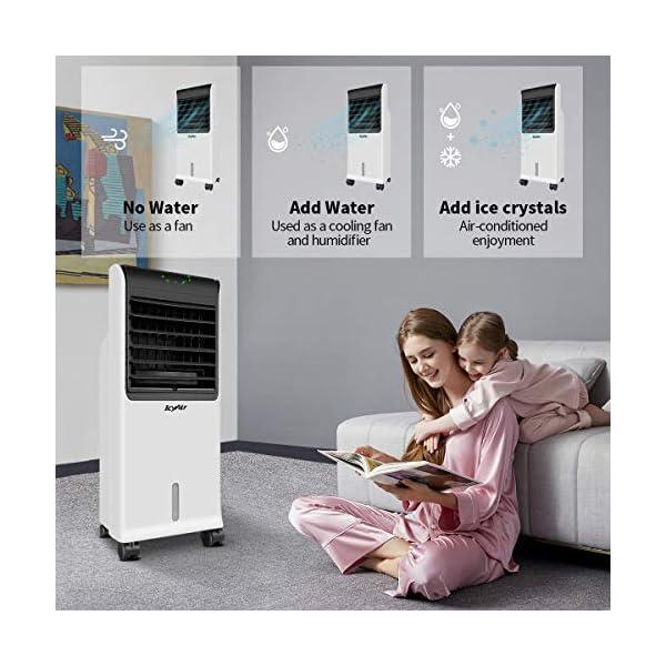 IcyAir Condizionatore Portatile, Raffreddatore d'Aria con Funzione di Purificazione dell'Aria, Ventilatore di… 3 spesavip