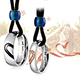 """Aienid Couples Necklace for Him and Her Stainless Steel """"Heart Always"""" Pendant for Chains"""