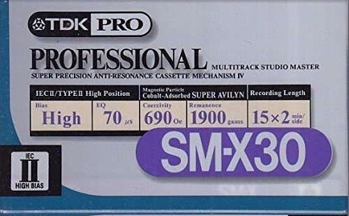 TDK PRO SM-X30 Professional Master High Bias Audio Tape 30 Minute Single by TDK