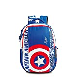 Skybags Polyester Sb Marvel Cap-Am 03 Blue 32 Ltrs School Bag