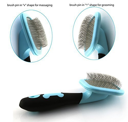 Slicker-Brush-PETPAWJOY-Dog-Brush-Gently-Cleaning-Pin-Brush-for-Shedding-Dog-Hair-Brush-for-Small-Dogs-Puppy-Yorkie-Poodle-Rabbits-Cats