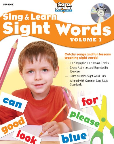 Sing and Learn Sight Words, vol.1 (Book with audio CD) (Sing & Learn Sight (Dolch Basic Sight Words)