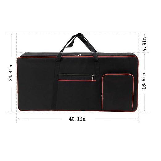 Amazon.com: Bolsa grande acolchada para teclado con asas de ...