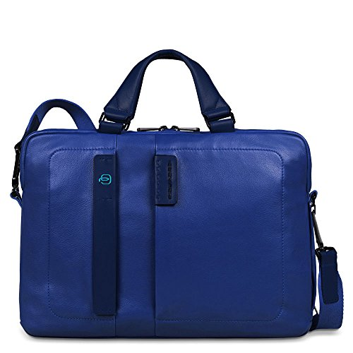 Piquadro Two-Handled Computer Bag with iPad and iPad Mini Compartment, Blue, One Size by Piquadro
