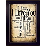 The Craft Room SB179C I Love You Framed Print by Artist Susan Ball, 10 x 14-Inch