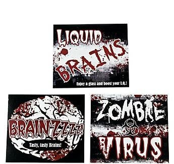 Cool Fun 9-1345 Zombie 2 Liter Drink Bottle Labels