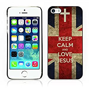 Carcasa Funda Case // V0000392 Bible: Keep Calm and Love Jesus // iPhone 5 5S