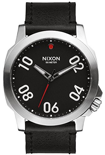 BlackRed-The-Ranger-45-Leather-Watch-by-Nixon