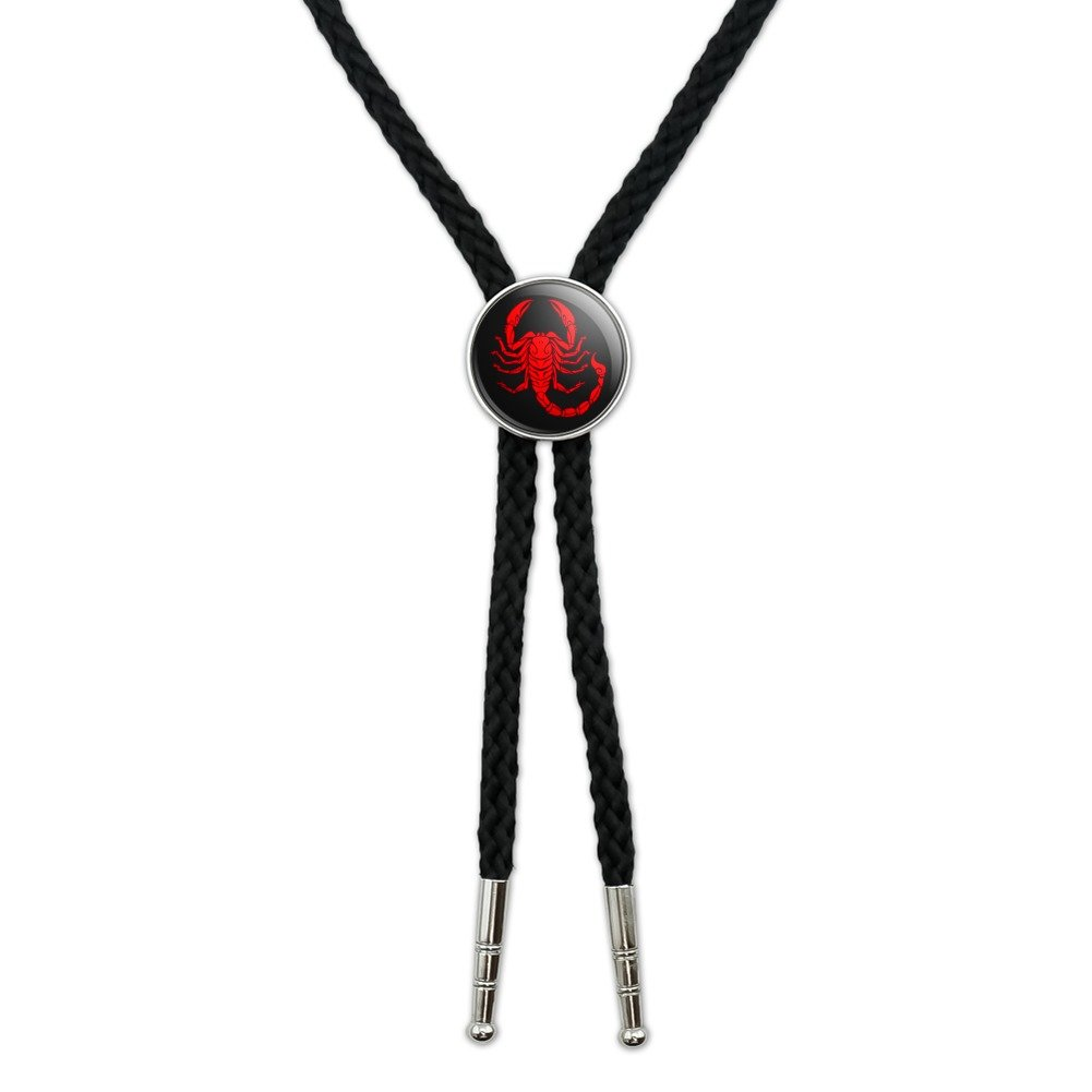 Red Tribal Scorpion Western Southwest Cowboy Necktie Bow Bolo Tie GRAPHICS & MORE