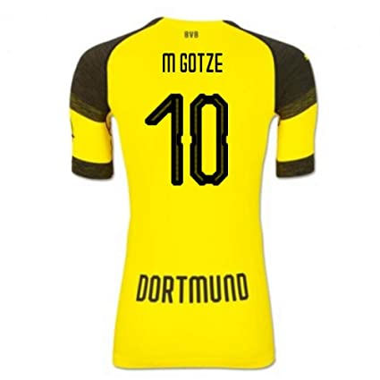 009087b325a Image Unavailable. Image not available for. Color  2018-2019 Borussia  Dortmund Puma Authentic Evoknit Home Football Soccer T-Shirt ...