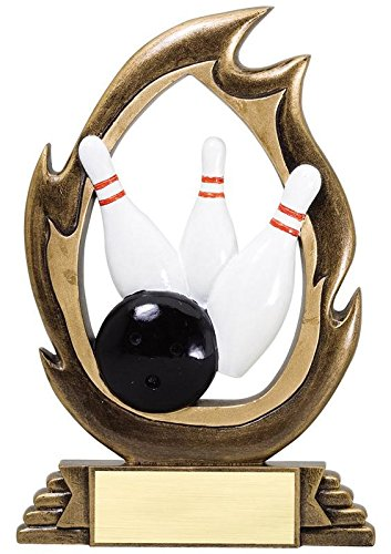 Adult Get Real Bowling Ball Costumes (Bowling Flame Series Trophy - Burning Bowling Awards - Customize Now - Personalized Engraved Plate Included & Attached to Award - Perfect Burning Bowlin Award Trophy - Decade Awards)