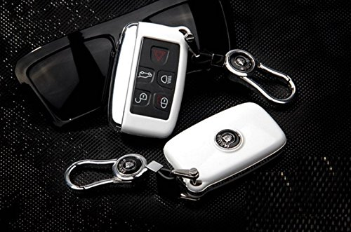 Eppar New Key Box Cover With Key Chain for Jaguar F-Pace 2015-2017 (White) by Eppar