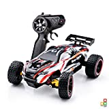 PTL High Speed RC Cars Off-Road Vehicle 2WD Fast Shockproof Radio Remote Control Truggy Racing Car Gifts for Kids Teenage Boys Girls, 2.4Ghz Electric Hobby Fun Toys Indoor Outdoor Terrain