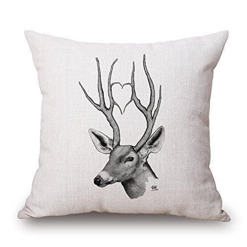 alphadecor-pillow-cases-of-deer-18-x-18-inches-45-by-45-cmbest-fit-for-drawing-roomfestivaldining-ro