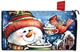 Briarwood Lane Warm Wishes Winter Magnetic Mailbox Cover Snowman Hot Chocolate