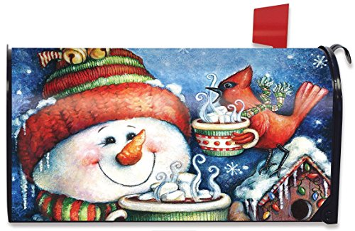 (Briarwood Lane Warm Wishes Winter Magnetic Mailbox Cover Snowman Hot Chocolate)