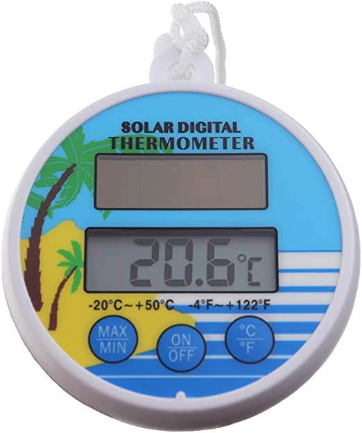 Termómetro Digital para Piscina con energía Solar: Amazon.es: Jardín
