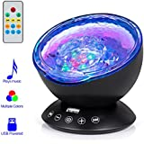 Remote Control Ocean Wave Projector, Hallomall 12LED...