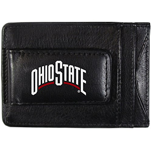 (Siskiyou NCAA Ohio State Buckeyes Logo Leather Cash and Cardholder, Black)
