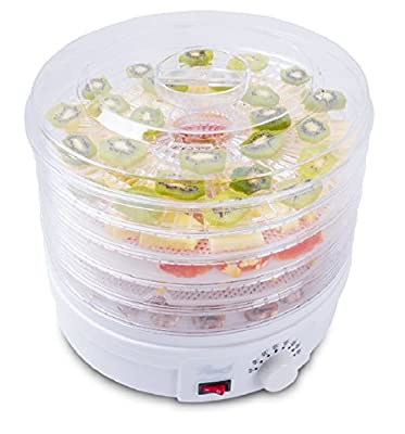 Rosewill RHFD-15001 BPA-Free 5-Tray Countertop Portable Electric Food Fruit Dehydrator with Adjustable Thermostat