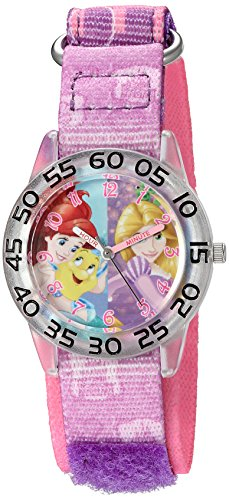 Disney Girl's 'Rapunzel' Quartz Plastic and Nylon Watch, Color:Purple (Model: W002955)