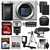 Sony Alpha A6300 4K Wi-Fi Digital Camera Body (Silver) with 64GB Card + Case + Flash + LED Video Light + Mic + Battery & Charger + Tripod + Kit Review
