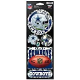 WinCraft NFL Dallas Cowboys Prismatic Stickers, Team Color, One Size
