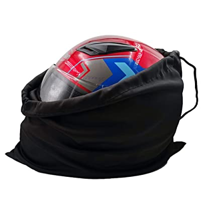 Motorcycle Helmet Bag Welding Mask Hood Storage carrying Bag for Riding Bicycle Sports Universal Tool Made of Nylon Cloth with Locking Drawstring (Black 1pcs): Sports & Outdoors