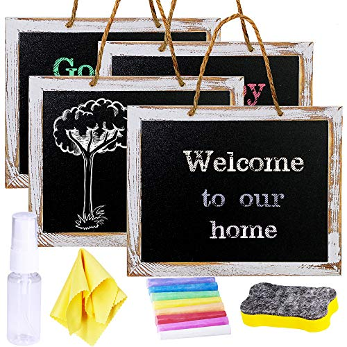 4 Pcs Hanging Chalkboard Signs 9.5
