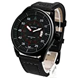 Dictac Wristwatch Men Casual Analog Sport Watch with Date Window and Luminous Hands (Black)