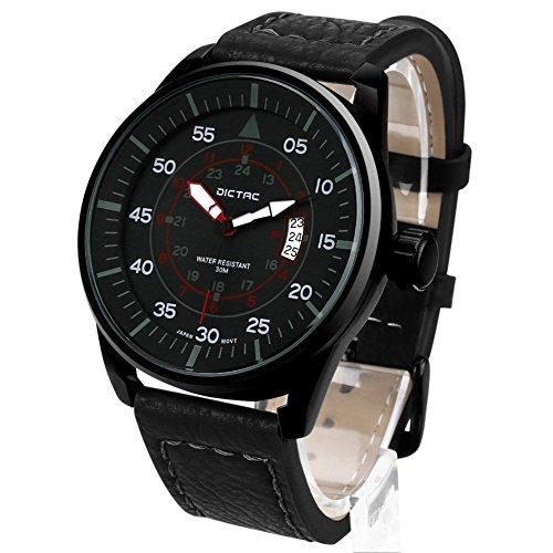 Dictac-Reloj-Hombre-de-Cuarzo-Impermeable-para-Masculino-la-Moda-de-Lujo