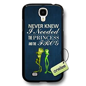 Disney Cartoon Princess and the frog Hard Plastic Phone Case for Samsung Galaxy S4 - Disney Princess Tiana Samsung S4 Case - Black