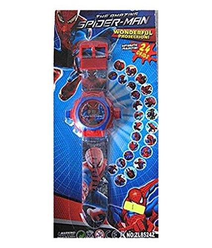 buycrafty Spider-Man Cartoon imágenes Proyector Reloj Niños Reloj ...
