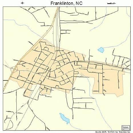 Franklinton Nc Map.Amazon Com Large Street Road Map Of Franklinton North Carolina