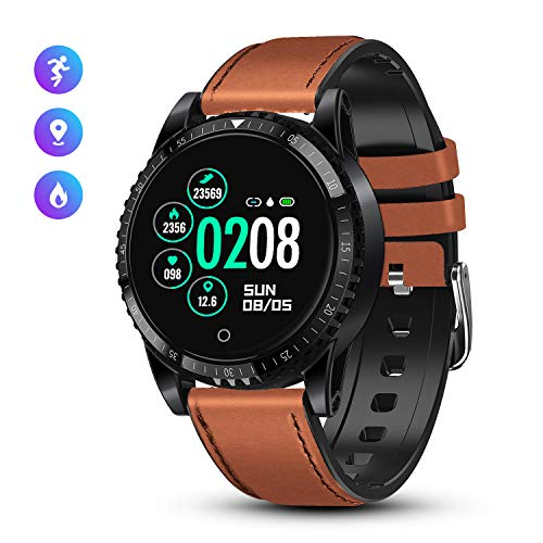 GOKOO Smart Watch for Men Activity Tracking Heart Rate Blood Pressure Monitor Sleep Tracker IP67 Waterproof Touchscreen Smartwatch Camera Control Sedentary Reminder Pedometer Calorie Counter