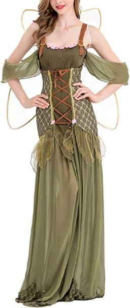 Mitef Vestido de Hada con Flores para Mujer, Disfraz de Princesa de ...