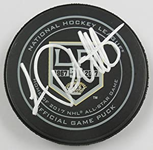 Luc Robitaille Signed Los Angeles Kings 50th Anniversary Official Game Hockey Puck 1008423