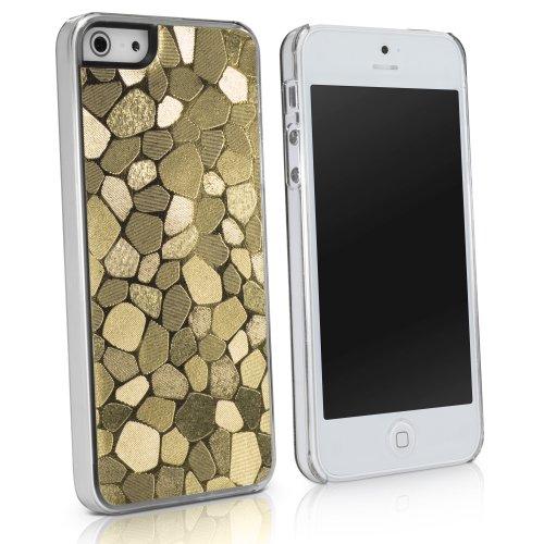 BoxWave LuxePave iPhone 5 (Kunststoff-Handyschutzcover/Case, Mosaik-Design, für Apple iPhone 5 (Gold),