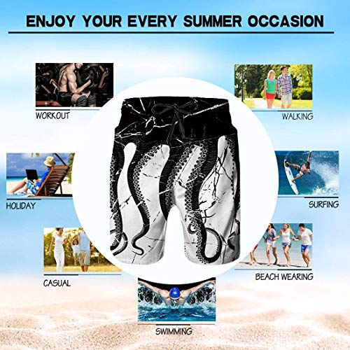 YongColer Extreme Comfort Swim Trunks Big /& Tall Half Pants for Men Boy Fast Dry Sportwear