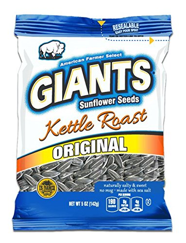 Giants Kettle Roast Sunflower Seeds , 12 packs - 5 oz bags