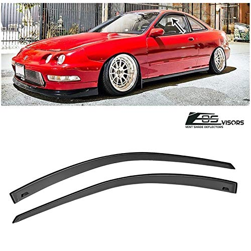 - Extreme Online Store for 1994-2001 Acura Integra DC2 3Dr Hatchback | EOS Visors JDM Tape-On Style Smoke Tinted Side Vents Rain Guard Window Deflectors