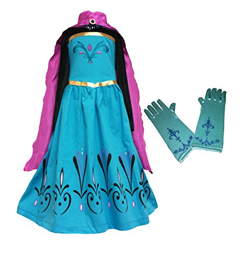 Frozen ELSA Coronation Dress + Cape + Gloves (4-5 Years, (Kids Elsa Coronation Dress)
