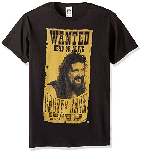 WWE Mens Cactus Jack Wanted Dead Alive T-Shirt