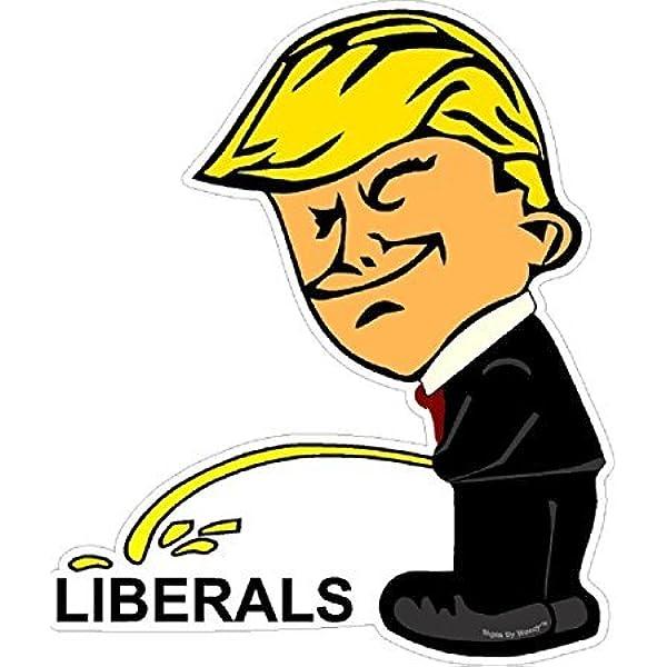 Piss on Biden sticker decal anti biden conservative window bumper sticker