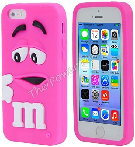 COQUE IPHONE 5S M&M'S SILICONE ROSE: Amazon.fr: High-tech