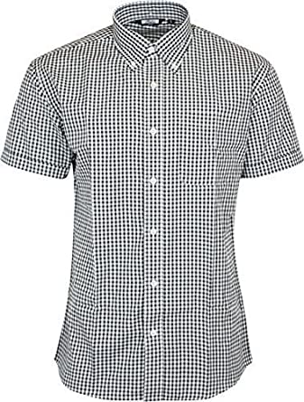 Mens Merc London Gingham Shirt Mod S Slim Fit Black Main Image