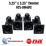 4 Pair of 3.25' x 3.25' Piezo Tweeter Element DJ Speaker Car Audio Square Single Super Horn NTX-1004PZ
